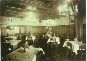 Hotel Zur Sonne Innen3 AK, um 1930